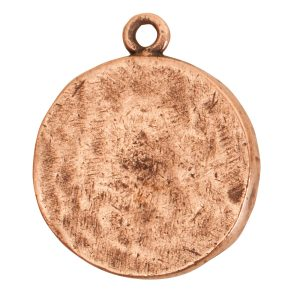 Charm Small Round LotusAntique Copper