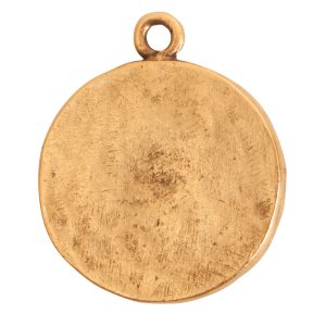 Charm Small Round LotusAntique Gold