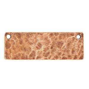 Hammered Flat Tag Grande Thin Double Loop<br>Antique Copper