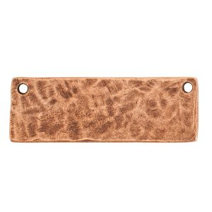 Hammered Flat Tag Grande Thin Double LoopAntique Copper