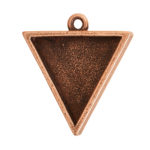 Large Pendant TriangleAntique Copper