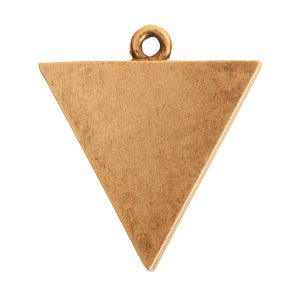 Large Pendant TriangleAntique Gold