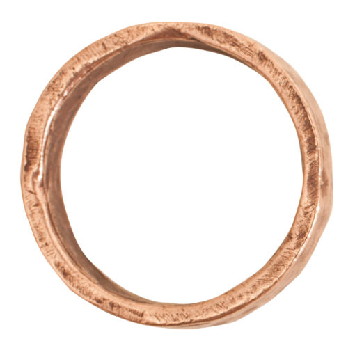 Ring Hammered Size 7Antique Copper