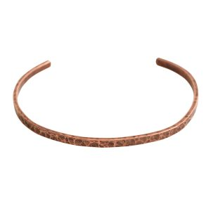 Cuff Bracelet Hammered ThinAntique Copper