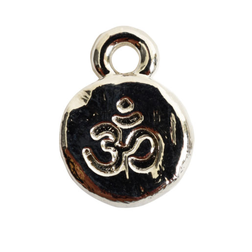 Charm Itsy Spiritual Ohm<br>Sterling Silver Plate 1