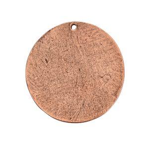 Flat Tag Grande Circle Single Loop <br>Antique Copper