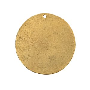 Flat Tag Grande Circle Single Loop Antique Gold