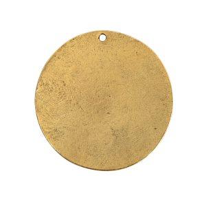 Flat Tag Grande Circle Single Loop Antique Gold