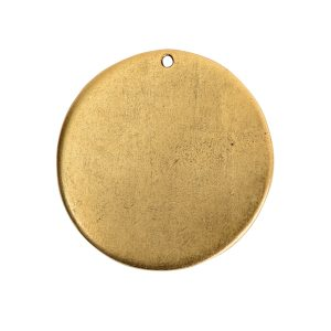 Flat Tag Grande Circle Single Loop <br>Antique Gold