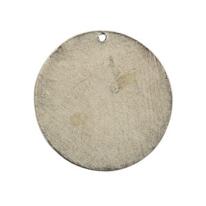 Flat Tag Grande Circle Single Loop Antique Silver
