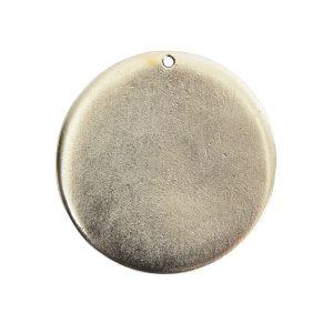 Flat Tag Grande Circle Single Loop <br>Antique Silver