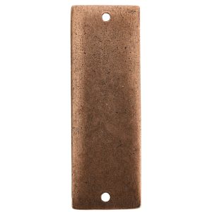 Flat Tag Grande Thin Double Loop Antique Copper