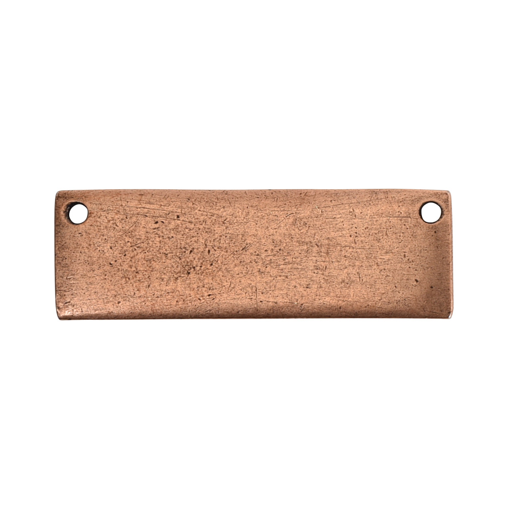 Flat Tag Grande Thin HorizontalAntique Copper