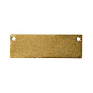 Flat Tag Grande Thin Horizontal<br>Antique Gold