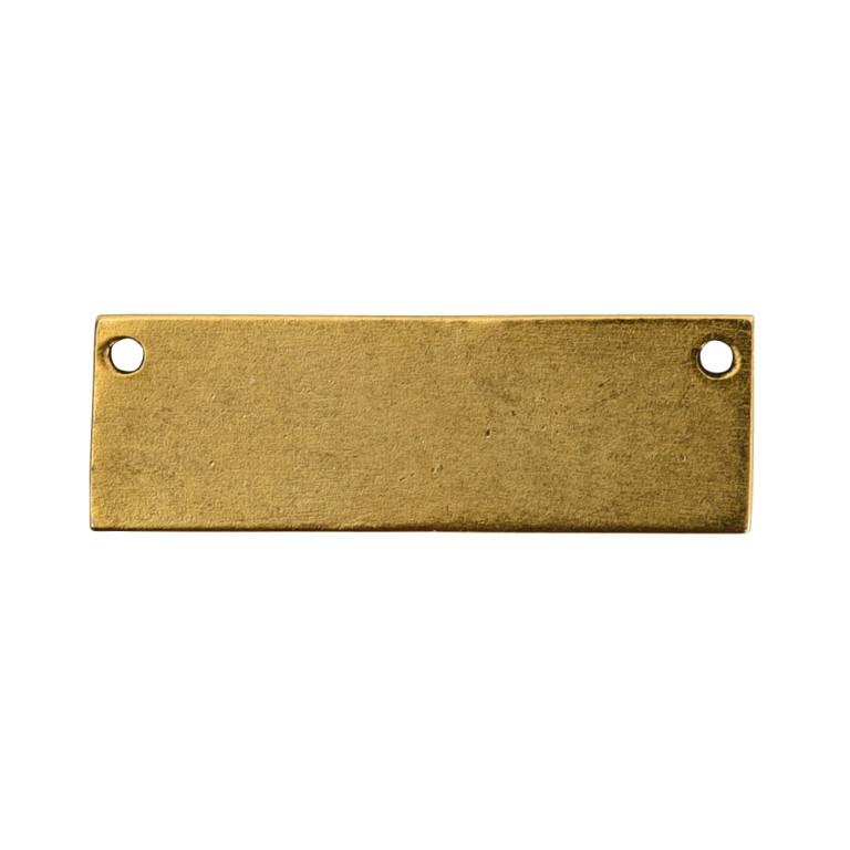Flat Tag Grande Thin HorizontalAntique Gold