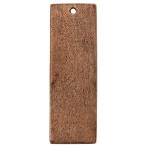 Flat Tag Grande Thin Single Loop Antique Copper