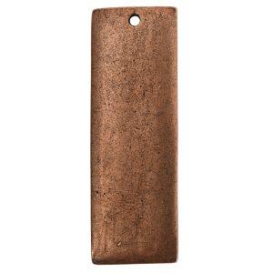 Flat Tag Grande Thin Single Loop <br>Antique Copper