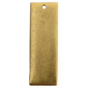 Flat Tag Grande Thin Single Loop Antique Gold