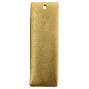 Flat Tag Grande Thin Single Loop <br>Antique Gold