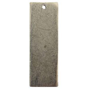 Flat Tag Grande Thin Single Loop Antique Silver