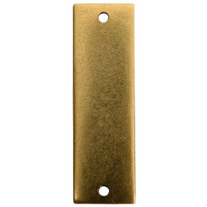 Flat Tag Large Thin Double Loop Antique Gold
