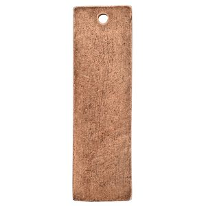 Flat Tag Large Thin Single Loop Antique Copper