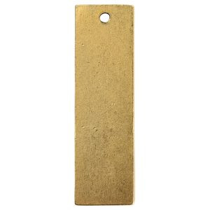 Flat Tag Large Thin Single Loop Antique Gold