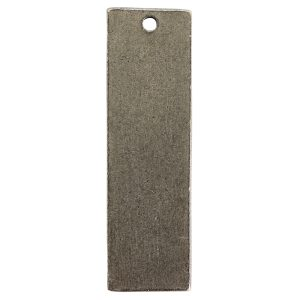 Flat Tag Large Thin Single Loop Antique Silver