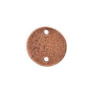 Flat Tag Mini Circle Double Loop Antique Copper