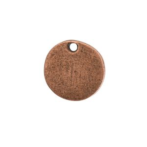 Flat Tag Mini Circle Single Loop Antique Copper