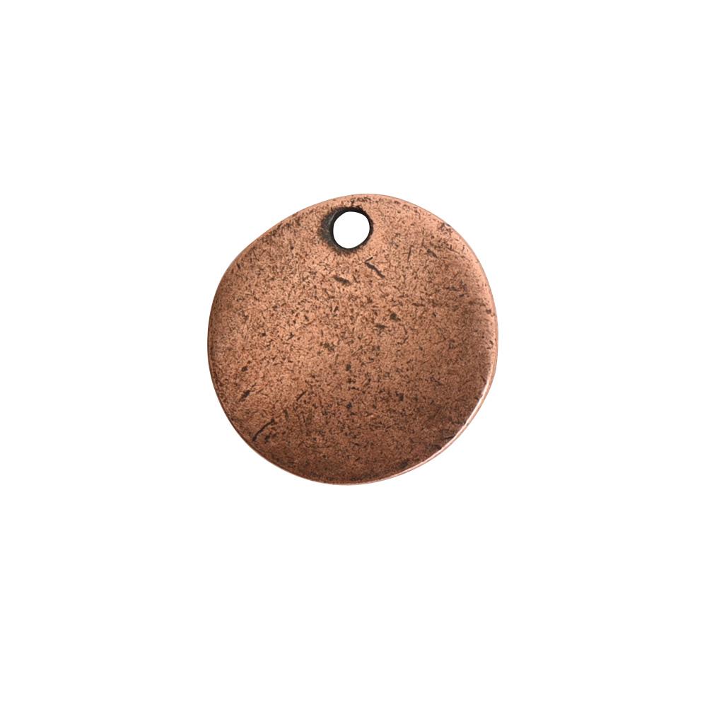 Flat Tag Mini Circle Single Loop Antique Copper