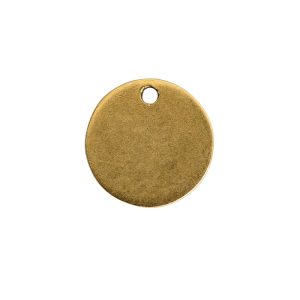 Flat Tag Mini Circle Single Loop Antique Gold