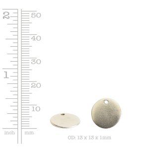 Flat Tag Mini Circle Single Loop <br>Antique Copper