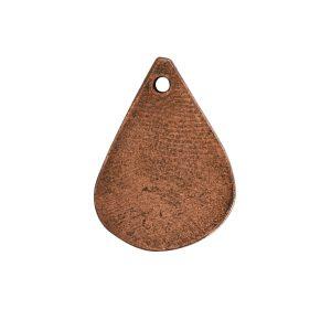 Flat Tag Mini Drop Antique Copper