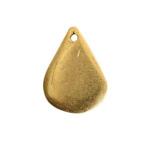 Flat Tag Mini Drop Antique Gold