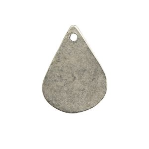 Flat Tag Mini Drop Antique Silver