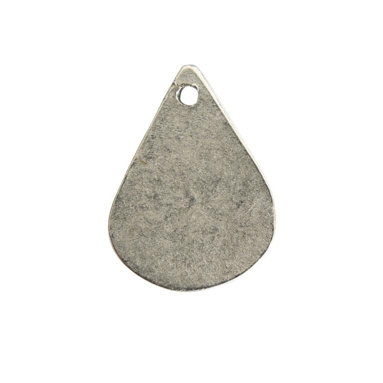 Flat Tag Mini Drop Antique Silver