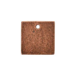 Flat Tag Mini Square Single Loop <br>Antique Copper