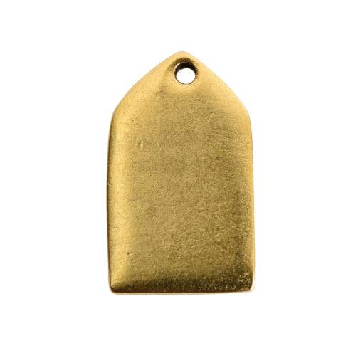 Flat Tag Mini Tablet Antique Gold