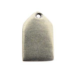 Flat Tag Mini Tablet Antique Silver