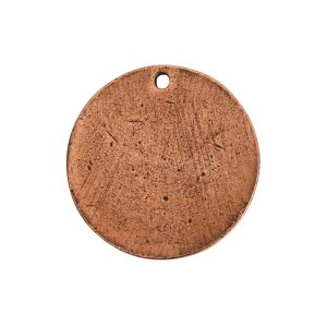 Flat Tag Small Circle Single Loop Antique Copper