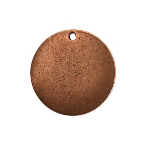 Flat Tag Small Circle Single Loop Antique Copper
