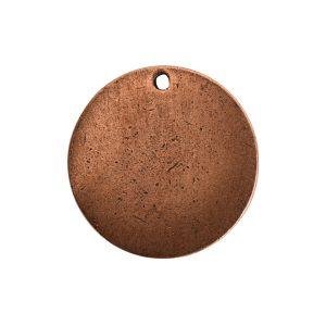 Flat Tag Small Circle Single Loop <br>Antique Copper
