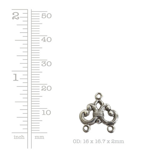 Strand Reducer Filigree 2 Loop-Antique Silver