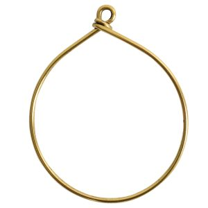 Wire Frame Large HoopAntique Gold