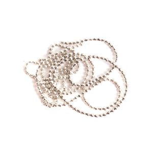 Buy & Try Findings Faceted Bead Chain-Slv