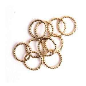 Buy & Try Findings Jump Ring Grande Rope-Gld
