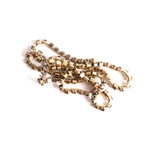 Buy & Try Findings Rhinestone Chain 14pp-Gld 1