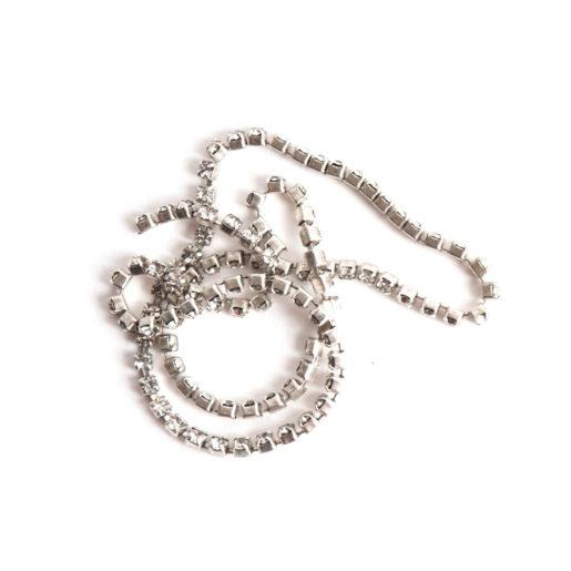 Buy & Try Findings Rhinestone Chain 14pp-Slv 1