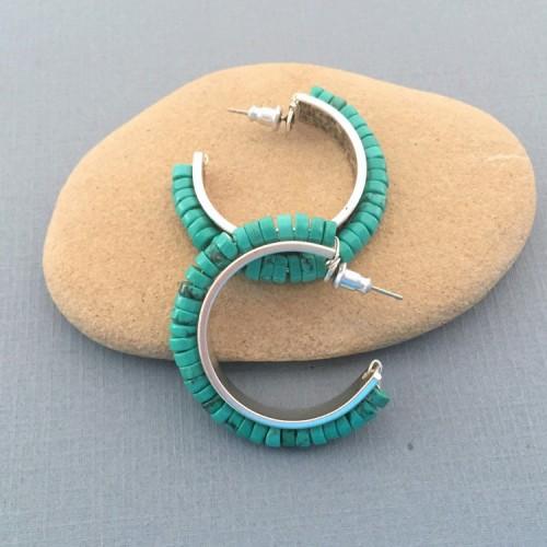 Turquoise Channel Earrings